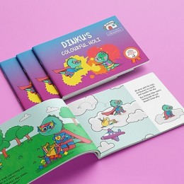 Dinkus Colourful Holi - Story Activity Book