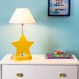 Bright Yellow Star Lamp