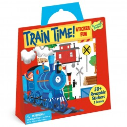Reusable Sticker Tote: Train Time