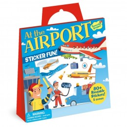 Reusable Sticker Tote: At the Airport