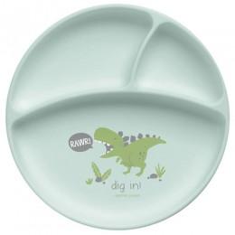 Stephen Joseph Silicone Baby Plate - Dino