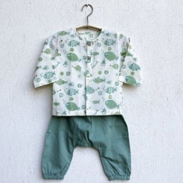 Koi Mint Bag - Kurta and Pyjama Pants Set