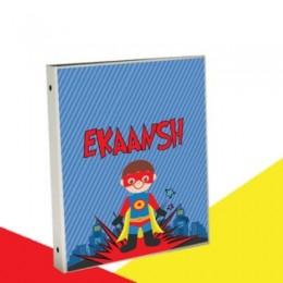 Superhero Theme Binder Personalized
