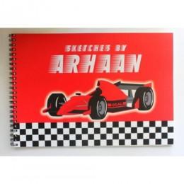 Racer Car Theme Sketch Book