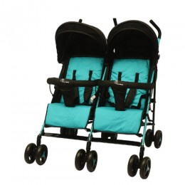 """R for Rabbit Ginny and Johnny ??"""" The Twin Stroller and Pram (Blue Black)"""