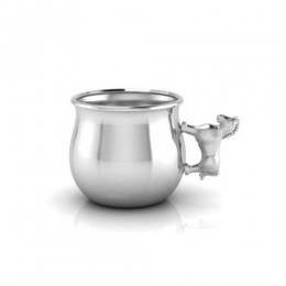 Silver Plated Horse Baby Cup