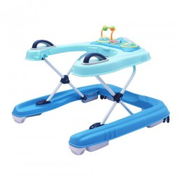 R for Rabbit Zig Zag Grand Anti Fall 3 in 1 Baby Walker & Push Walker (Blue)