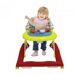 R for Rabbit Zig Zag Anti Fall Safe Baby Walker with Adjustable Height and Musical Toy