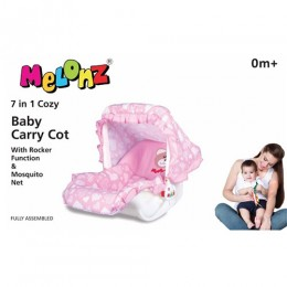 Cheesy Cheeks Melonz 7 In 1 Baby Carry Cot (Pink)