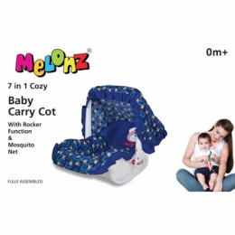 CHEESY CHEEKS MELONZ 7 IN 1 BABY CARRY COT (Blue)