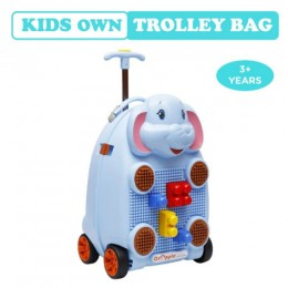 R for Rabbit Orapple Kids Trolley Bags for Kids with Blocks (Blue)