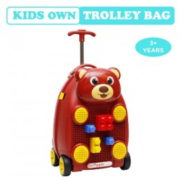 R for Rabbit Orapple Kids Trolley Bags for Kids with Blocks (Maroon)