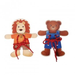 Threading Bear and Lion (pack of 2)