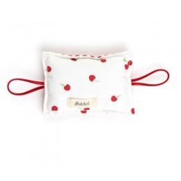 The Cushy Closer Door Cushion- Cherry With Stripes