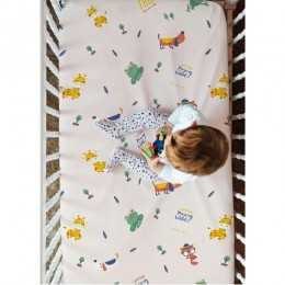 Fitted Crib Sheet - Young Wild Free