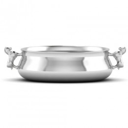 Silver Plated Bowl for Baby and Child - Horse Handle Feeding Porringer