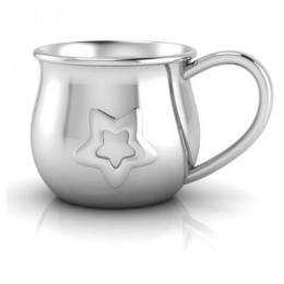 Silver Plated Baby Cup with an Embossed Star