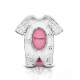 Silver Plated Pyjama Baby Photo Frame for Baby and Kids - Pink