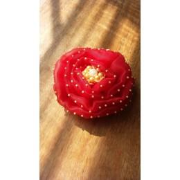 Organza Blossom Pearl Clip