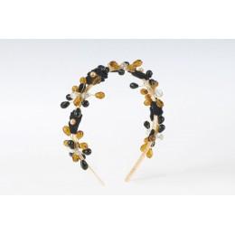 Celestial Star Black and Gold Headband