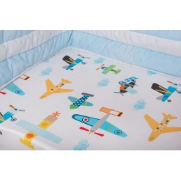 Just Plane Cute Cot Sheet
