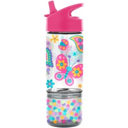 Flip Top Bottle with Snack Container - Dino