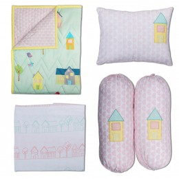Home Sweet Home Cot Bedding Set