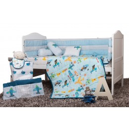 Just Plane Cute Cot Bedding Set