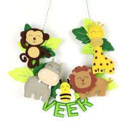 Personalized Wild Jungle Animal Wall Hanging