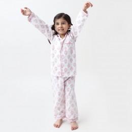 Madison Blockprint Pajama Set (Pink)