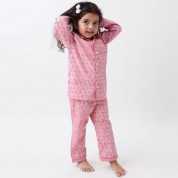 Lily Blockprint Pajama Set (Watermelon Pink)
