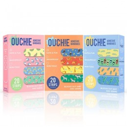 Ouchie NON-TOXIC Printed Bandages TRIPLE COMBO (3 x 20 - 60 Pack)