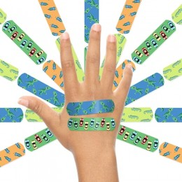Ouchie Non-Toxic Printed Bandages COMBO Set of 2 (2 x 20= 40 Pack)- (BLUE & ORANGE)