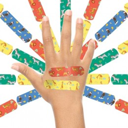 Ouchie Non-Toxic Printed Bandages TRIPLE COMBO (3 x 20= 60 Pack)- (2 x ORANGE & 1 x PINK)