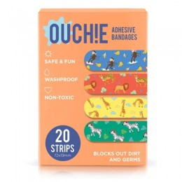 Ouchie Non-Toxic Printed Bandages 20-pack (ORANGE)