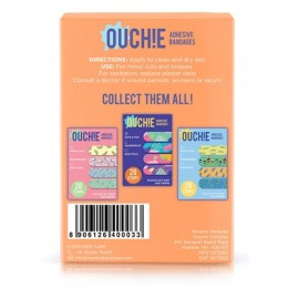 Ouchie Non-Toxic Printed Bandages COMBO Set of 2 (2 x 20= 40 Pack) - (Orange)
