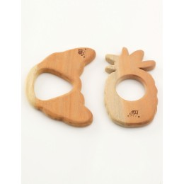 Wooden Teethers - Pineapple and croissant