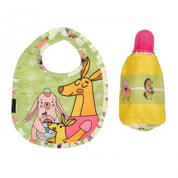 Bib & Bottle Cover Set - Hippo