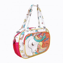 Diaper Bag - Pink White Unicorn Baby