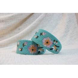 Peach & Pink Flower Beads Headband