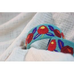 Red & Blue Flower Beads Headband