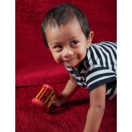 Wooden Rattle - Small Tumbler Red