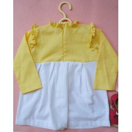 Candilicious : Yellow Dress With Embroidered Ice Cream Patch