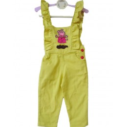 Rise And Shine Sunshine : Yellow Dungaree With Peppa Pig Patch