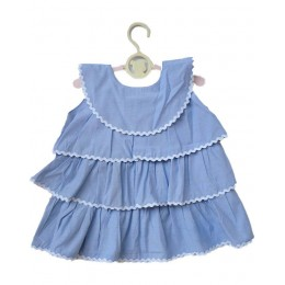 Fun With Frills : Light Blue Three Tiered Dress