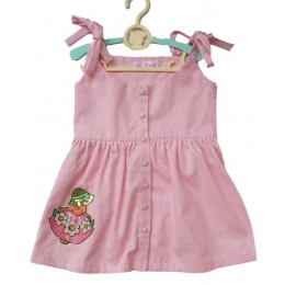 Dolled Up : Light Pink Dress With An Embroidered Doll Patch