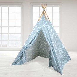 Teepee Tent - Blue Base & White Dot