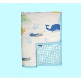 Underwater Animals Quilted Blanket