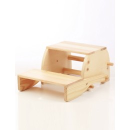 Wooden Convertible Step Stool and Chair - Natural
