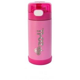 ZoLi POW SQUEAK Vacuum Insulated Straw Drink Bottle - Pink